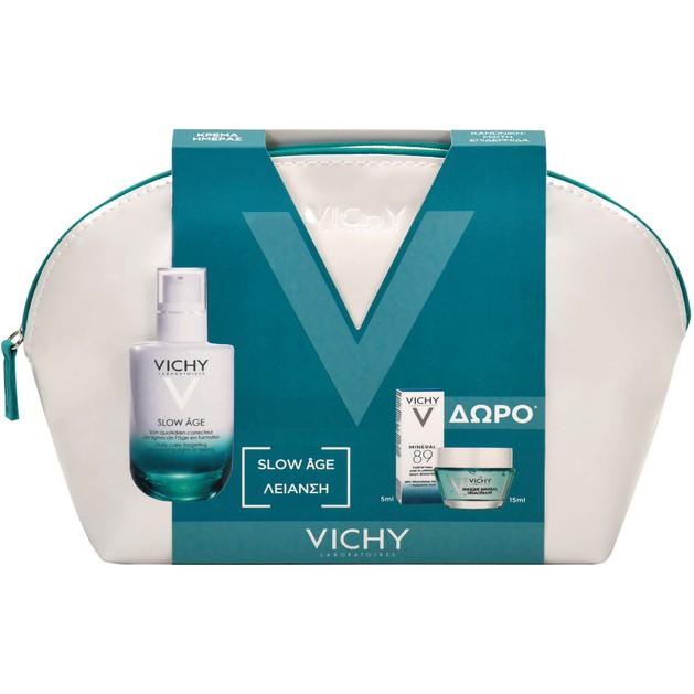 Vichy Πακέτο Προσφοράς Slow Age Fluide 50ml & Δώρο Masque Mineral Desalterant 15ml & Mineral 89 5ml