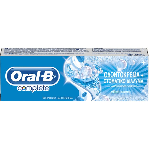 Oral-B Complete Mouth Wash & Whitening Extra Fresh Toothpaste 75ml