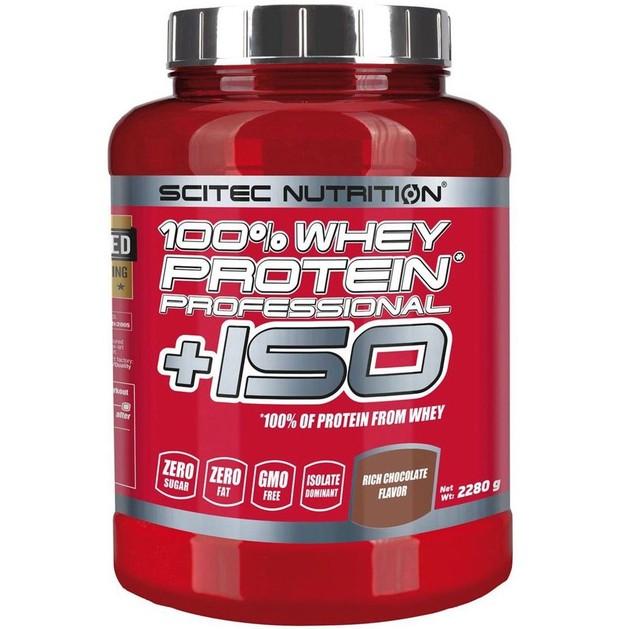 Scitec Nutrition 100% Whey Protein Professional +ISO Καθαρή Πρωτεΐνη Ορού Γάλακτος για Γράμμωση 2280g