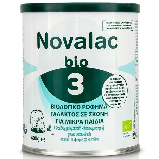 Novalac Bio 3 Βιολογικό Ρόφημα σε Σκόνη για Μικρά Παιδιά από 1 Έως 3 Ετών 400gr