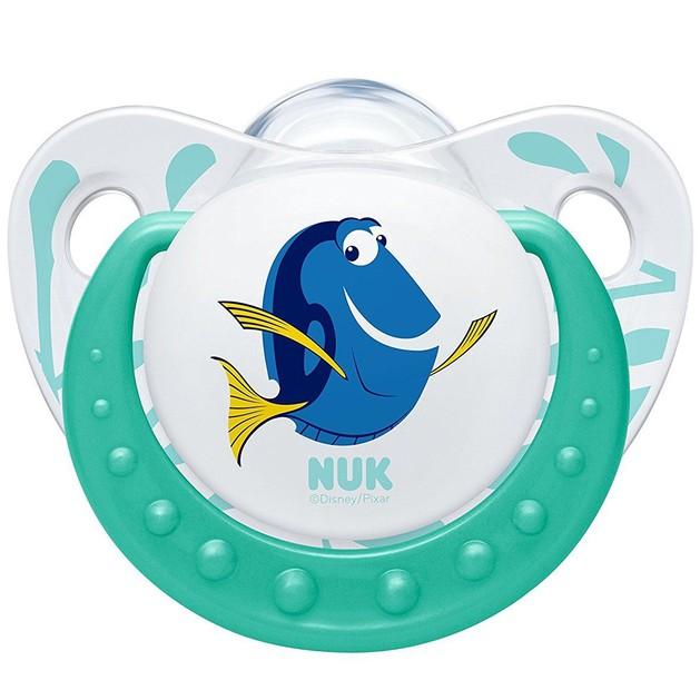 Nuk Trendline Finding Dory Πιπίλα Σιλικόνης με Κρίκο Χωρίς BPA Πράσινο