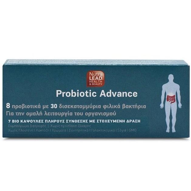 NutraLead Probiotic Advance Συμπλήρωμα Διατροφής Προβιοτικών για την Ομαλή Λειτουργία του Οργανισμού 28caps