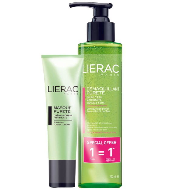 Lierac Πακέτο Προσφοράς Masque Purete Μάσκα Προσώπου Με Πράσινη Άργιλο 50ml & Δώρο Demaquillant Purete Καθαριστικό Ζελ 200ml