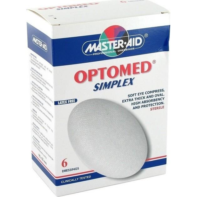 Master Aid Optomed Simplex Οφθαλμικά Επιθέματα  6 Τεμάχια