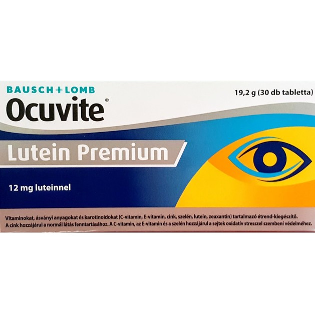 Bausch & Lomb Ocuvite Lutein Premium Συμπλήρωμα Διατροφής Για Την Υγεία Των Ματιών 30Tabs