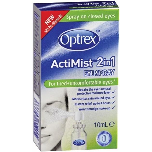 Optrex Actimist Σπρέι 2 σε 1 για Κουρασμένα Μάτια, με Διπλή Δράση, Αναζωογονεί & Ανακουφίζει 10ml