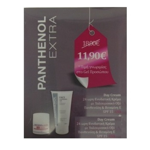 Medisei Panthenol Extra Πακέτο Προσφοράς Day Cream Spf15, 50ml & Δώρο Face Cleansing Gel 150 ml