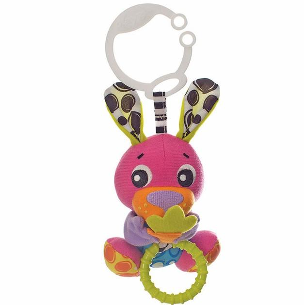 Playgro - Peek-A-Boo Wiggling Bunny- Κρεμαστό Παιχνιδάκι με Δόνηση 0m+
