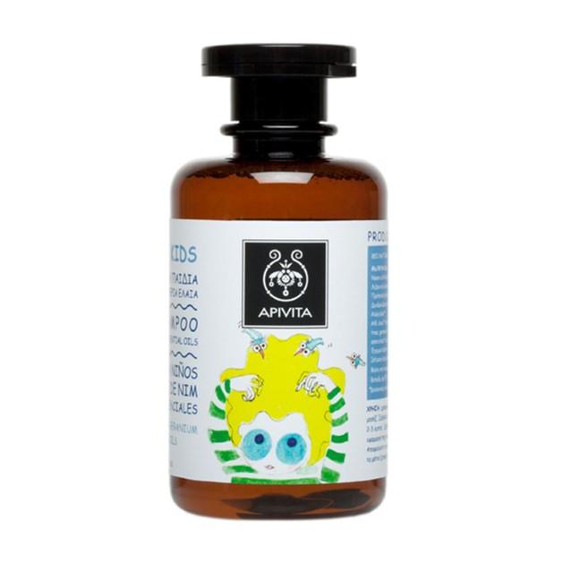Apivita School Kids Προληπτικό Σαμπουάν Για Ψείρες Με Neem Oil 250ml