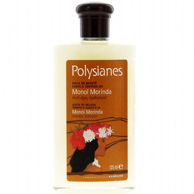 Polysianes Huile Morinda Monoi Anti-age, Hydratant 125ml