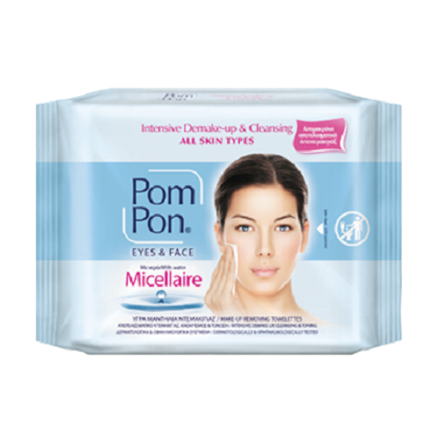 Pom Pon Micellaire Μαντηλάκια Ντεμακιγιάζ 20τμχ