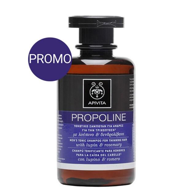 Apivita Propoline Τονωτικό Σαμπουάν Για Άνδρες Για Την Τριχόπτωση Με Δεντρολίβανο & Λούπινο Προσφορά -20% 250ml