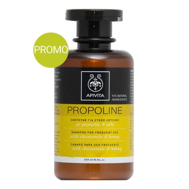 Apivita Propoline Σαμπουάν Για Συχνό Λούσιμο Με Χαμομήλι & Μέλι Προσφορά -20% 250ml