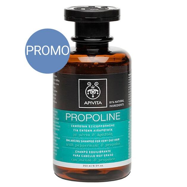 Apivita Propoline Σαμπουάν Εξισορρόπησης Για Έντονη Λιπαρότητα Με Μέντα & Πρόπολη Προσφορά -20% 250ml