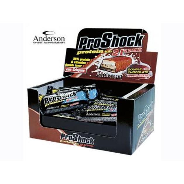 Anderson ProShock 35% Protein Bars Μπάρα Καλυμμένη Με Διπλό Στρώμα Σοκολάτας 21 Γραμμάρια Πρωτεΐνης 24x60g