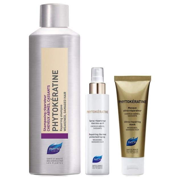 Phyto Πακέτο Προσφοράς Phytokeratine Shampoo 200ml & Δώρο Spray Reparateur 30ml & Masque Ultra-Reparateur 50ml