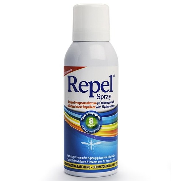 Uni-Pharma Repel Spray Άοσμο Εντομοαπωθητικό Spray με Υαλουρονικό 100ml