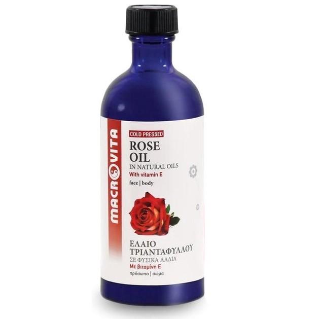 Macrovita Rose Oil with Vitamins E + C + F 100ml