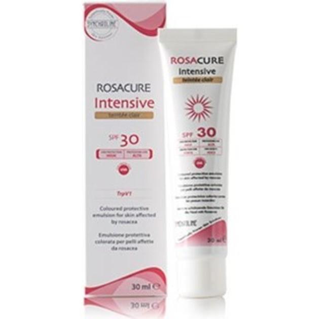 SYNCHROLINE Rosacure Intensive Cream Spf30 - Teintee Clair - Προστατευτικό γαλάκτωμα προσώπου 30ml