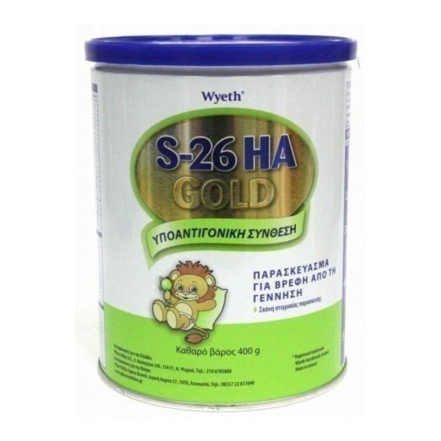 Wyeth S-26 ΗΑ Gold Βρεφικό Γάλα απο την Γέννηση με Υποαντιγονική Σύνθεση για την Αντικατάσταση του Μητρικού Γάλακτος 400gr