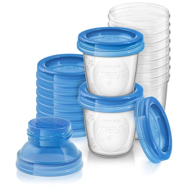 Avent Δοχεία Αποθήκευσης Μητρικού Γάλακτος με Αντάπτορες SCF618/10