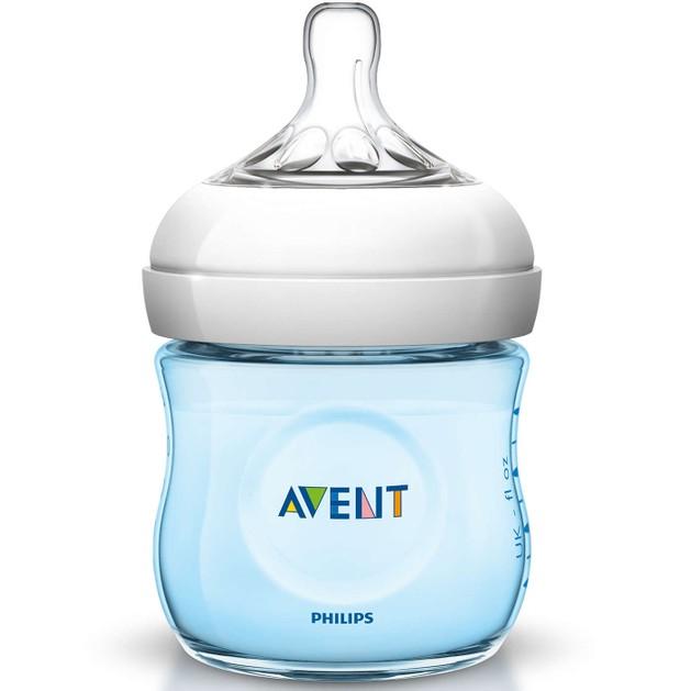 Avent Μπιμπερό Natural για Νεογέννητα Πλαστικό Μπλε 125ml