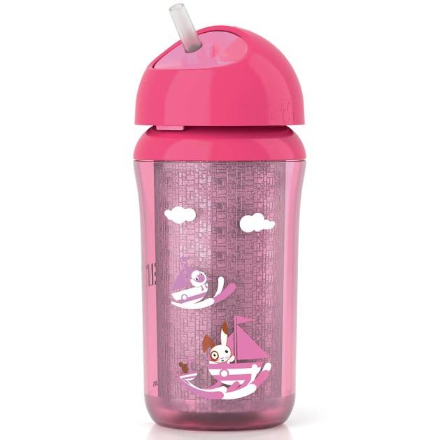 Avent Κύπελο με Μόνωση & Καλαμάκι απο 12 Μηνών+  Ροζ  260ml