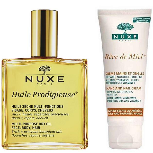 Δώρο Nuxe Huile Prodigieux Ξηρό Λάδι 10ml & Reve De Miel Creme Mains Et Ongles Κρέμα Χεριών & Νυχιών για Θρέψη & Προστασία 15ml