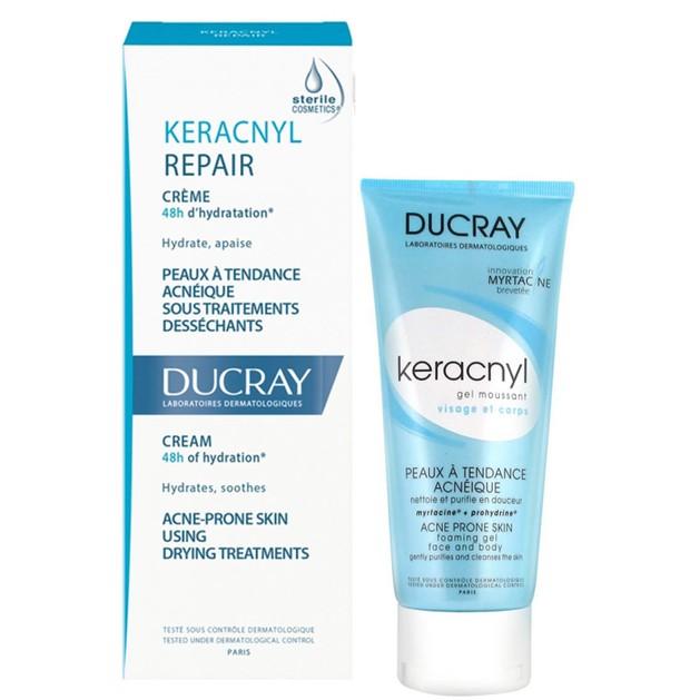 Ducray Πακέτο Προσφοράς Keracnyl Repair Creme 40ml  & Δώρο Keracnyl Gel 40ml