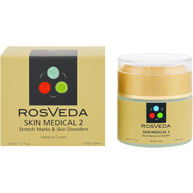 Rosveda Skin Medical 2 100% Φυτική Σύνθεση, Οργανική Κρέμα που Μειώνει Δραστικά, Ραγάδες, Ουλές, Λεπτές Γραμμές 50ml