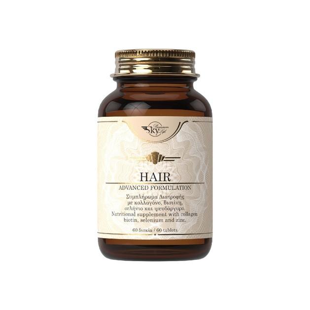 Sky Premium Life Hair Συμπλήρωμα Διατροφής με Κολλαγόνο, Βιοτίνη, Σελήνιο & Ψευδάργυρο 60 Tabs