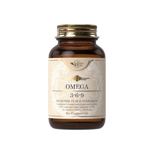 Sky Premium Life Omega 3-6-9 Συμπλήρωμα Διατροφής για τη Διατήρηση Φυσιολογικών Επιπέδων Χοληστερόλης 50softcells