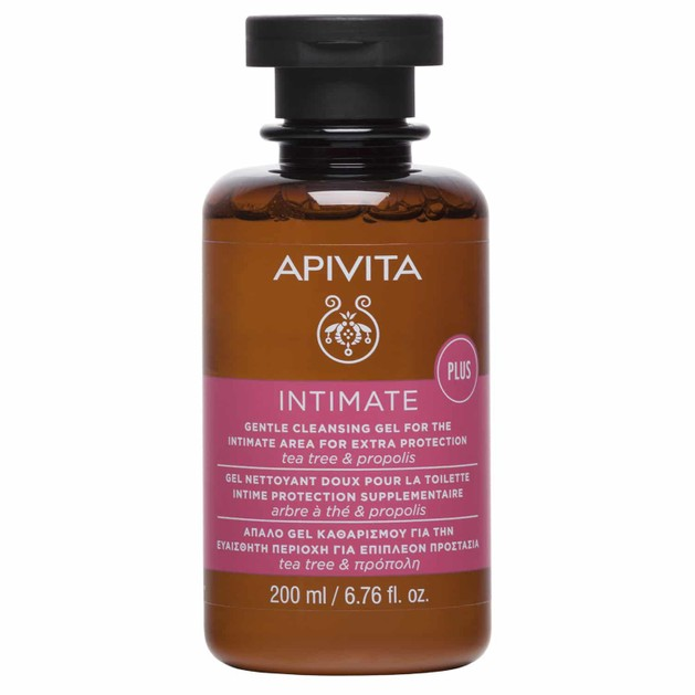 Apivita Intimate Care Plus Cleansing Gel For Extra Protection 200ml