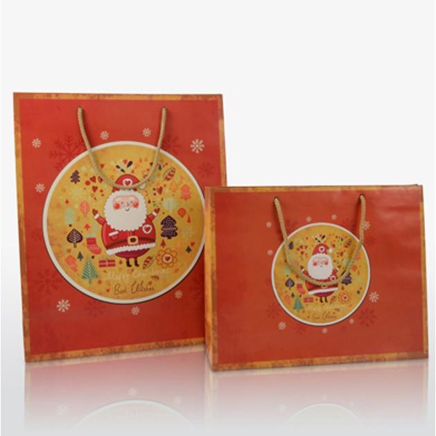 Χάρτινη τσάντα πολυτελείας Christmas Santa