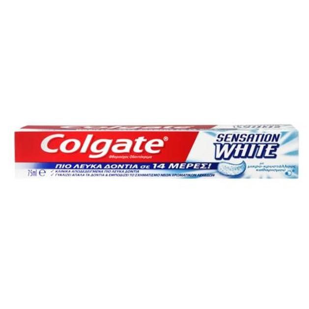 Colgate Sensation White Οδοντόκρεμα  Κλινικά Αποδεδειγμένη Ότι Γυαλίζει Απαλά Και Λευκαίνει Αποτελεσματικά 75ml