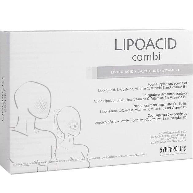 Synchroline Lipoacid Combi Συμπλήρωμα Διατροφής που Αποτελεί Ολοκληρωμένη Προστασία του Οργανισμού Από Ελεύθερες Ρίζες 60 tabs