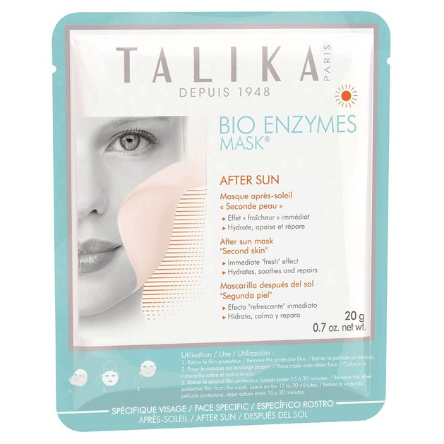 Talika Bio Enzymes Mask After Sun Μάσκα για Μετά την Έκθεση στον Ήλιο, Ενυδατώνει, Απαλύνει & Επανορθώνει την Επιδερμίδα 1Τμχ