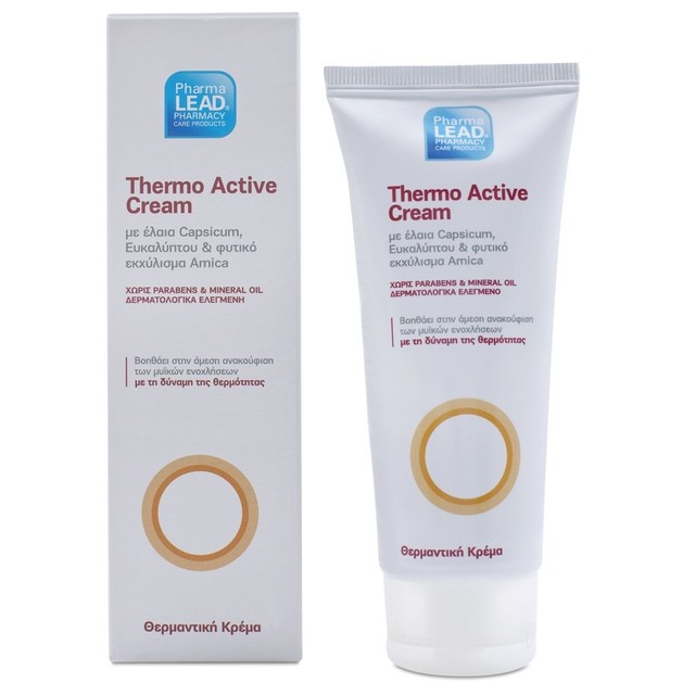 PharmaLead Thermo Active Θερμαντική Κρέμα με Έλαια Capsicum Ευκαλύπτου & Φυτικό Εκχύλισμα Arnica 100ml