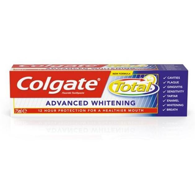 Colgate Total Advanced Whitening Οδοντόκρεμα Επανάκτηση Της Φυσικής Λευκότητας Του Χαμόγελού Σας 75ml