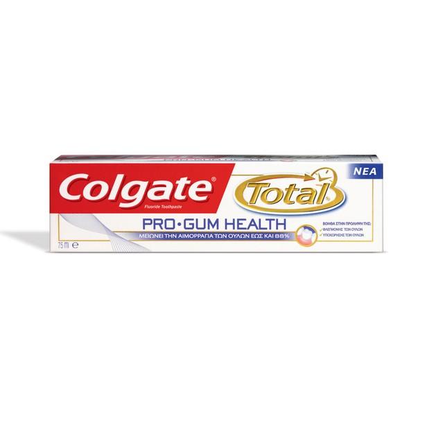 Colgate Total Pro-Gum Health Οδοντόκρεμα Δρα Ενάντια Τόσο Στην Αιτία Όσο Και Στα Συμπτώματα Της Φλεγμονής Των Ούλων 75ml