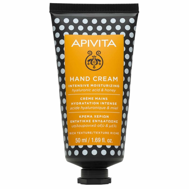 Apivita Hand Cream Intensive Moisturizing With Hyaluronic Acid & Honey Κρέμα Χεριών Εντατικής Ενυδάτωσης Πλούσιας Υφής 50ml