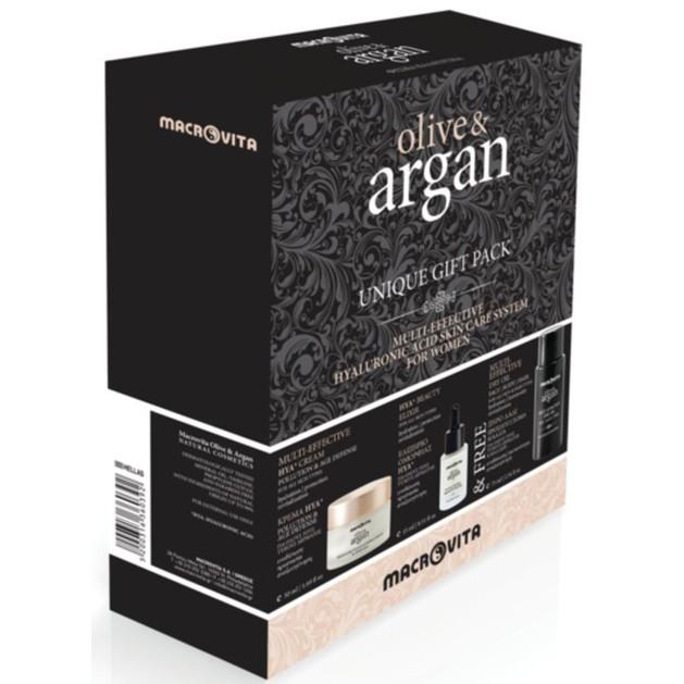 Macrovita Πακέτο Προσφοράς Olive & Argan Multi-Effective HYA Cream 50ml Beauty Elixir HYA 15ml Δώρο