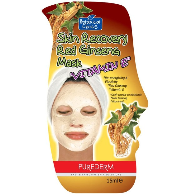 Vican Purederm Skin Recovery Red Ginseng Mask \