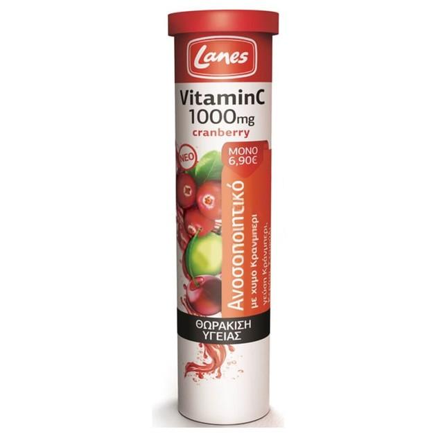 Lanes Vitamin C + Cranberry 1000mg 20 Effer.Tabs