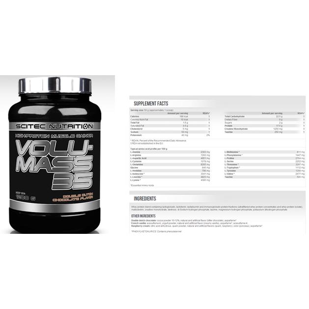 Volumass 35 Professional Εξελιγμένη Φόρμουλα μυικής αύξησης και ανάκτησης 1200g