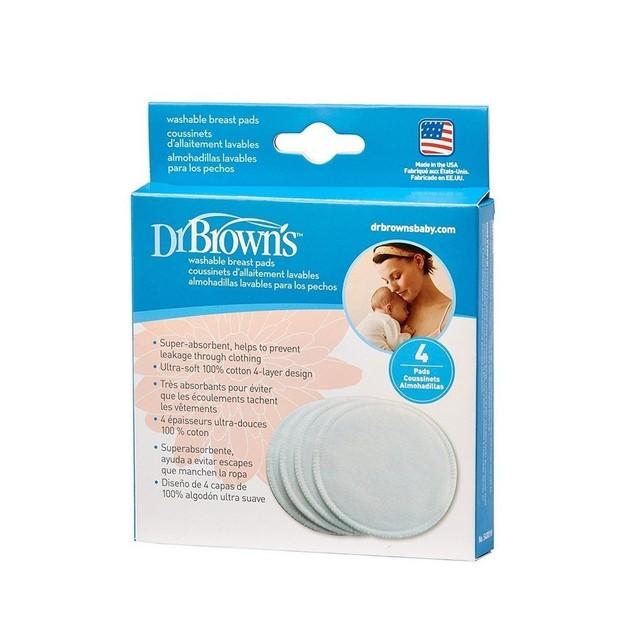 Dr. Brown\'s 4001-GB Επιθέματα Στήθους Πλενόμενα 4 τεμάχια