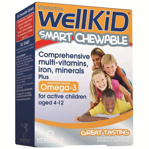 Vitabiotics Wellkid Omega 3 Πολυβιταμίνη σε Μασώμενες Ταμπλέτες Ειδικά για Παιδιά 30tabs
