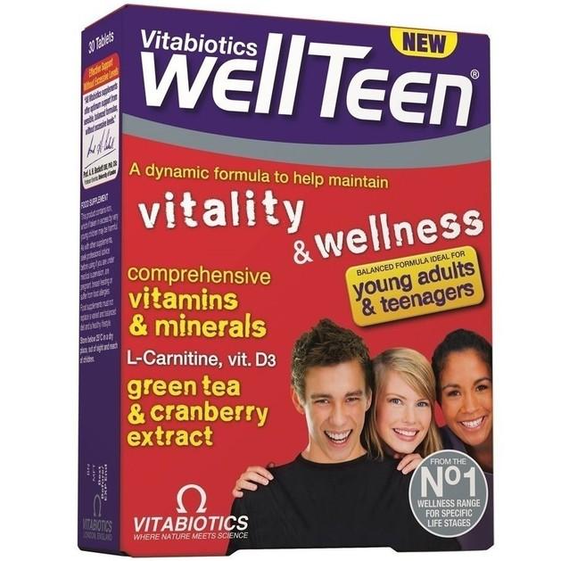 Vitabiotics Wellteen Συμπλήρωμα Διατροφής Ειδικά Σχεδιασμένο για Εφήβους και Νέους 13-19 Ετών 30tabs