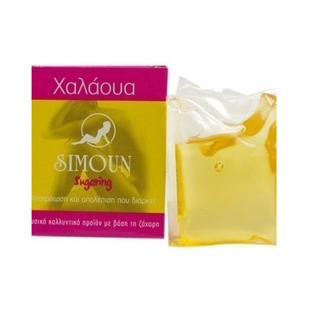 Simoun Χαλάουα Sugar Paste 100% Φυσικό Αποτριχωτικό Για Αποτρίχωση & Απολέπιση Που Διαρκεί Άνω από 3 Εβδομάδες 60gr