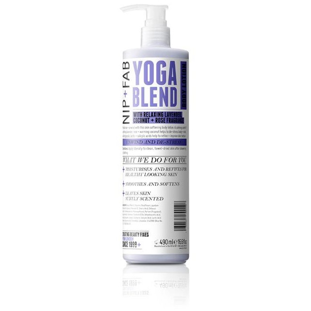 Nip + Fab Yoga Blend Body Lotion Προσφέρει Εξαιρετική Απαλότητα 490ml